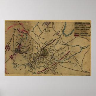 Jackson en Chancellorsville Póster