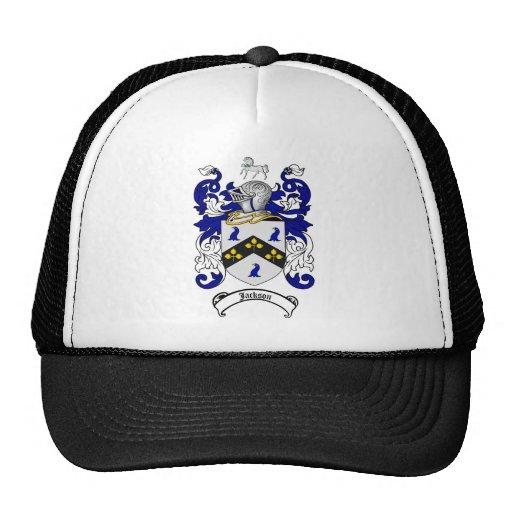 JACKSON FAMILY CREST -  JACKSON COAT OF ARMS TRUCKER HAT