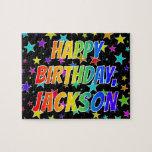 "[ Thumbnail: ""Jackson"" First Name, Fun ""Happy Birthday"" Jigsaw Puzzle ]"
