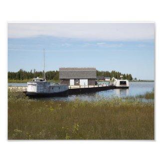 Jackson Harbor Commercial Fishing Boats Photo Print
