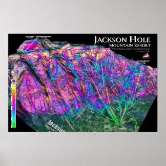 Jackson Hole 3dSkiMaps Poster
