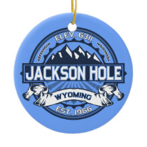 Jackson Hole Blue Ceramic Ornament