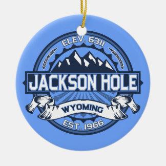 Jackson Hole Blue Ceramic Ornament