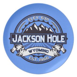 Jackson Hole Blue Dinner Plates