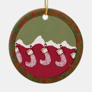 Jackson Hole Christmas stockings family ornament