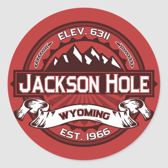 Jackson Hole Color Logo Stickers