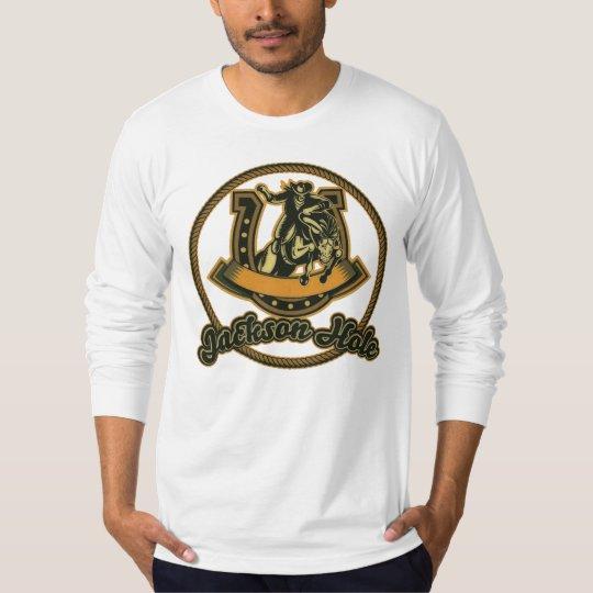 Jackson Hole Cowboy Green T-Shirt