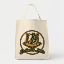 Jackson Hole Cowboy Green Tote Bag