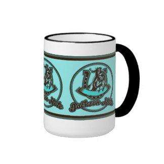 Jackson Hole Cowboy Mint Ringer Coffee Mug