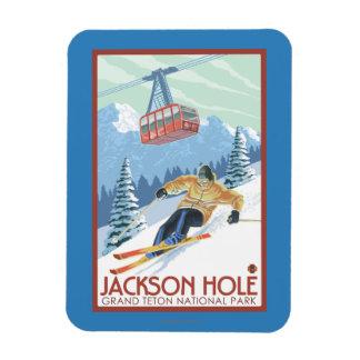 Jackson Hole, esquiador de Wyoming y tranvía Imanes Flexibles