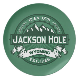 Jackson Hole Forest Party Plate