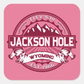 Jackson Hole Honeysuckle Square Sticker