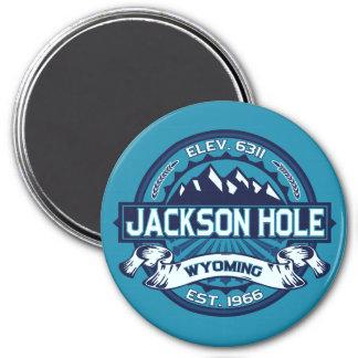 Jackson Hole Ice 3 Inch Round Magnet