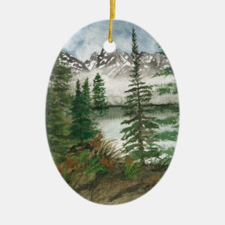 Jackson Hole Jenny Lake Ceramic Ornament
