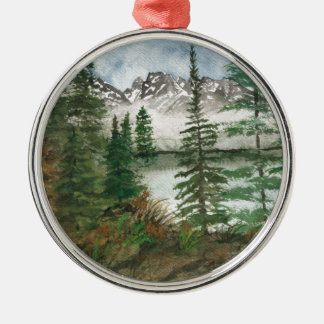 Jackson Hole Jenny Lake Metal Ornament