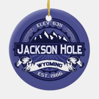 Jackson Hole Midnight Ceramic Ornament