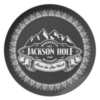 Jackson Hole Mountain Emblem Party Plates