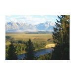 Jackson Hole Mountains and River Canvas Print