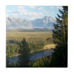 Jackson Hole Mountains and River Ceramic Tile
