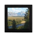 Jackson Hole Mountains and River Keepsake Box