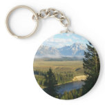 Jackson Hole Mountains and River Keychain