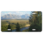 Jackson Hole Mountains and River License Plate