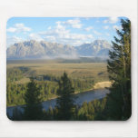 Jackson Hole Mountains and River Mouse Pad