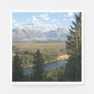 Jackson Hole Mountains and River Napkin