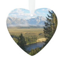 Jackson Hole Mountains and River Ornament