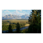 Jackson Hole Mountains and River Poster