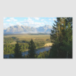 Jackson Hole Mountains and River Rectangular Sticker