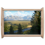 Jackson Hole Mountains and River Serving Tray