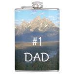 Jackson Hole Mountains Flask