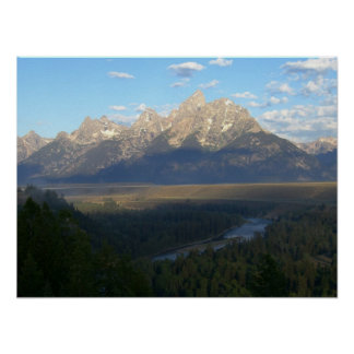 Jackson Hole Mountains (Grand Teton National Park) Poster