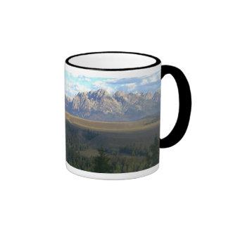 Jackson Hole Mountains, Grand Teton National Park Ringer Coffee Mug