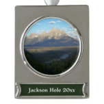 Jackson Hole Mountains (Grand Teton National Park) Silver Plated Banner Ornament
