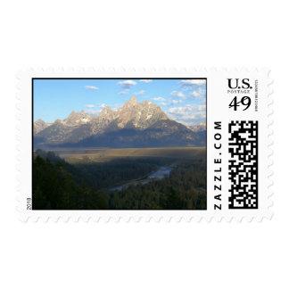 Jackson Hole Mountains Postage