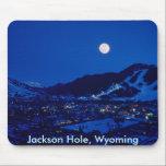 "Jackson Hole Mouse Pad<br><div class=""desc"">Fullmoon rises over Jackson Hole,  Wyoming</div>"
