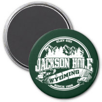 Jackson Hole Old Circle Green Magnet
