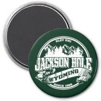 Jackson Hole Old Circle Green Magnet