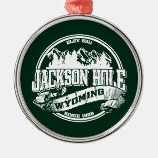 Jackson Hole Old Circle Green Metal Ornament