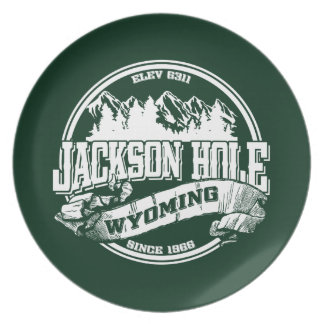 Jackson Hole Old Circle Green Dinner Plate