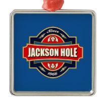 Jackson Hole Old Label Metal Ornament