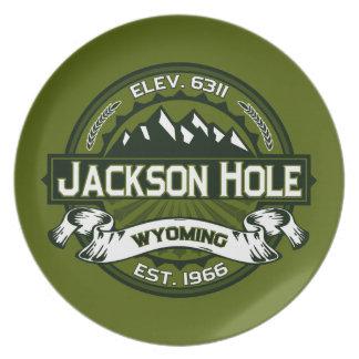 Jackson Hole Olive Dinner Plates
