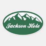 Jackson Hole Oval Stickers
