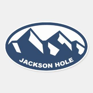 Jackson Hole Pegatina Ovalada