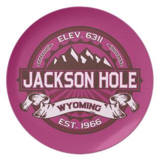 Jackson Hole Raspberry Plate