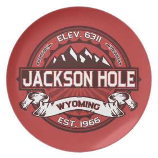 Jackson Hole Red Party Plates