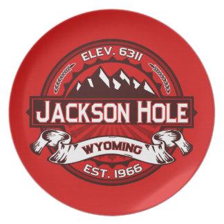 Jackson Hole Red Dinner Plate