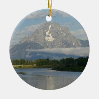 Jackson Hole River Ceramic Ornament